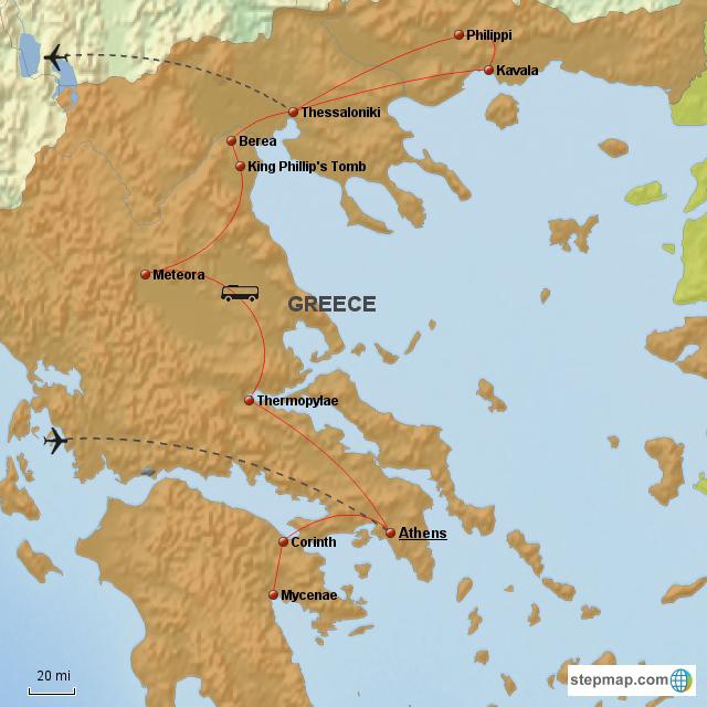 Athens Corinth Meteora Philippi Thessalonica Delphi 8 Day