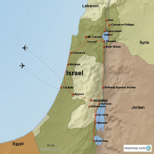Best of Israel 10 Day First Cl Map Of Holy Land In Jesus Time on
