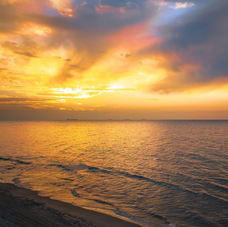 mediterranean sea sunset, Israel